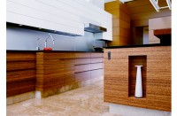 Smith &amp; Fong Durapalm plywood used in kitchen cabinetry