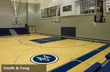 Bamboo flooring on basketball courts offer upgrades in flexibility, durability and even visual beauty over traditional maple and beech wood.