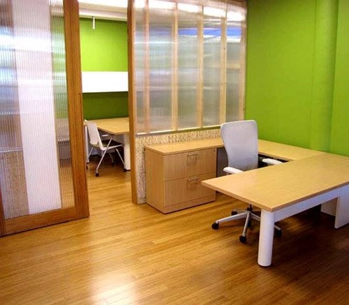 Bamboo flooring for healthier work at home