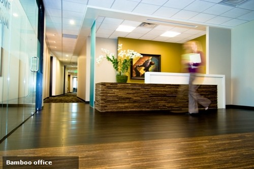 Mixing disparate design elements can give your office a look that is both welcoming and memorable.