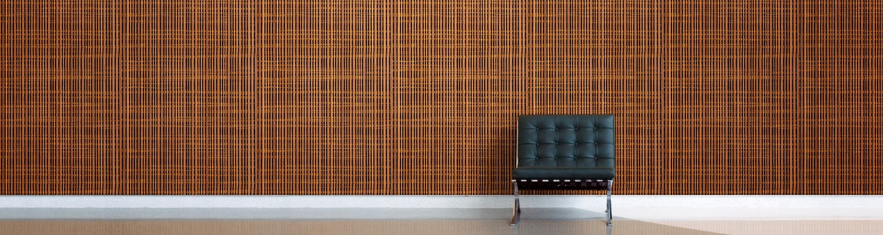 Bamboo acoustic wall panels