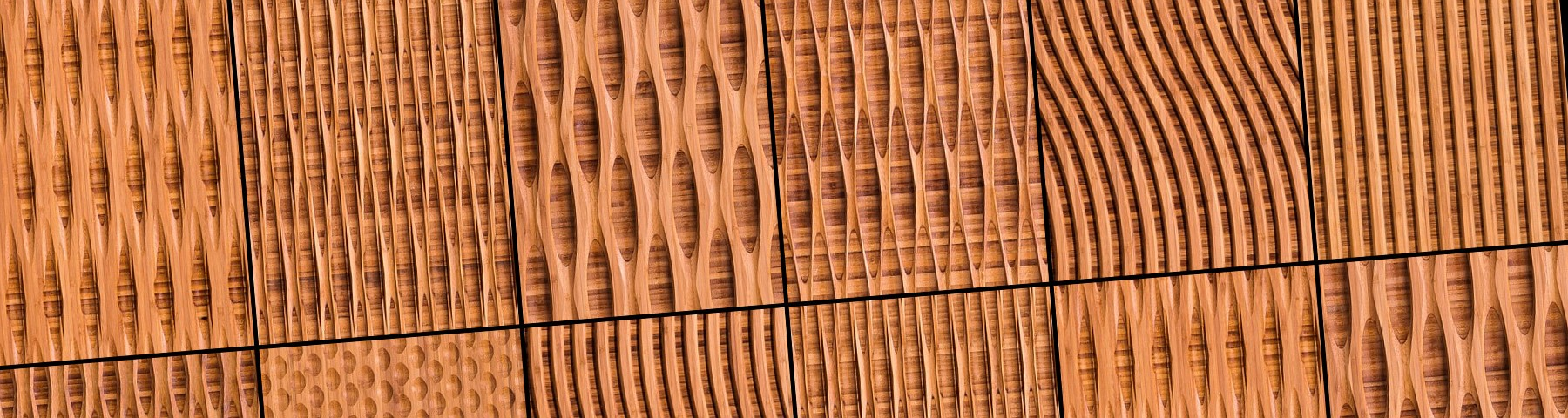 Bamboo carved acoustic wall panels