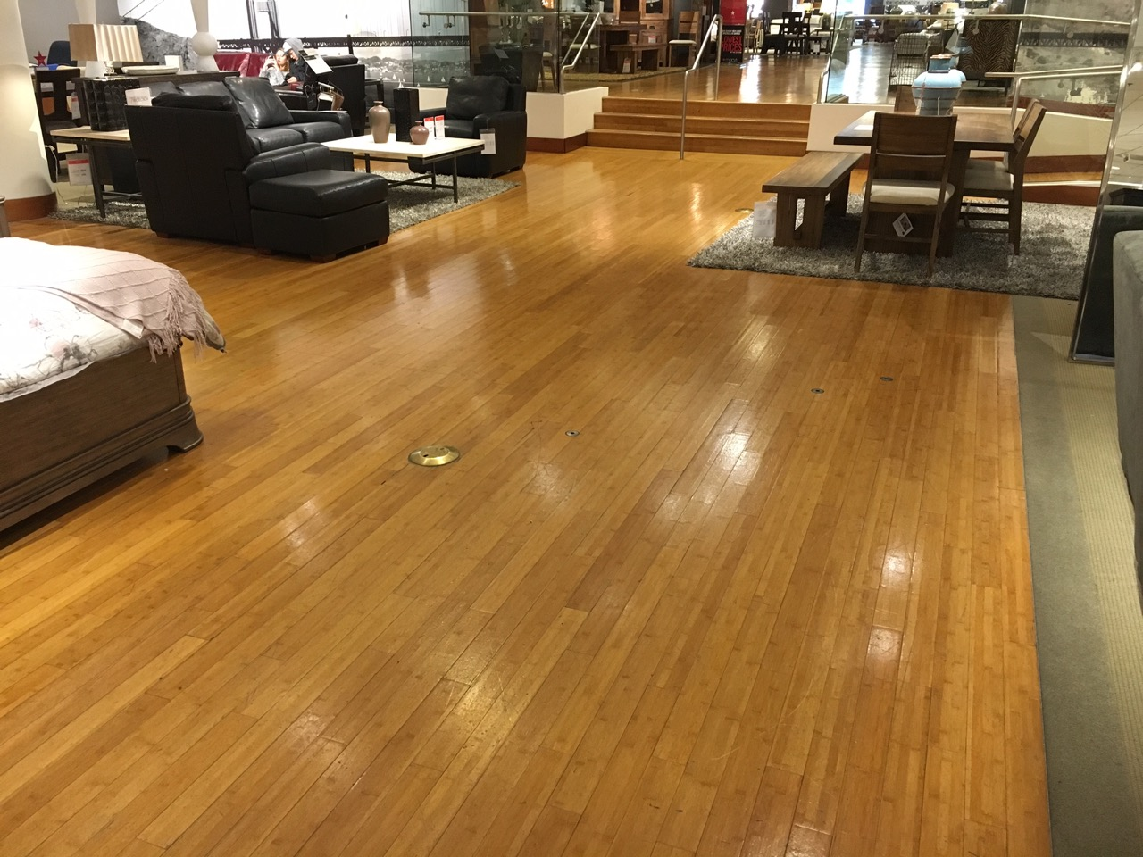 This Installation Wasn T Our First Commercial Of Plyboo Bamboo Flooring That Was 100 Square Feet Sand And Finish At Elements On Sacramento