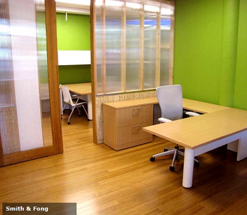 Bamboo floors and panels can be a beautiful enhancement to most any office environment.