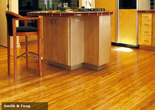 Seen here in the floor of a residential kitchen, bamboo was also widely used during the Jewish celebration of Sukkot.