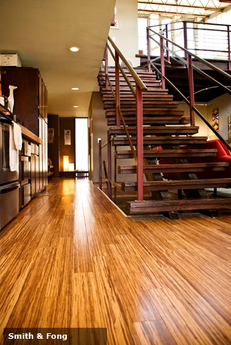 Strand bamboo flooring can be a gorgeous addition to an contemporary home design.