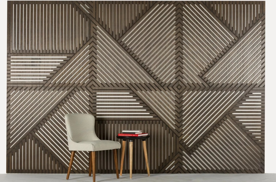 Futura sound wall panels - beautiful bamboo acoustical wall paneling by Plyboo.com