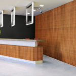 reveal wall collection in office reception area - c11