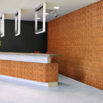 reveal wall collection in office reception area - c12
