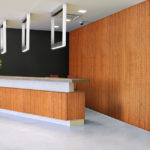 reveal wall collection in office reception area - c13