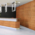 reveal wall collection in office reception area - c4