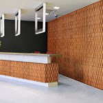 reveal wall collection in office reception area - c5