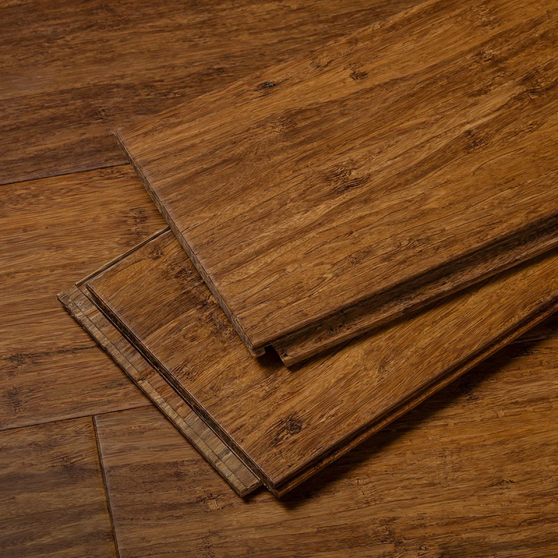 Stiletto Brushed Amber Strand Flooring