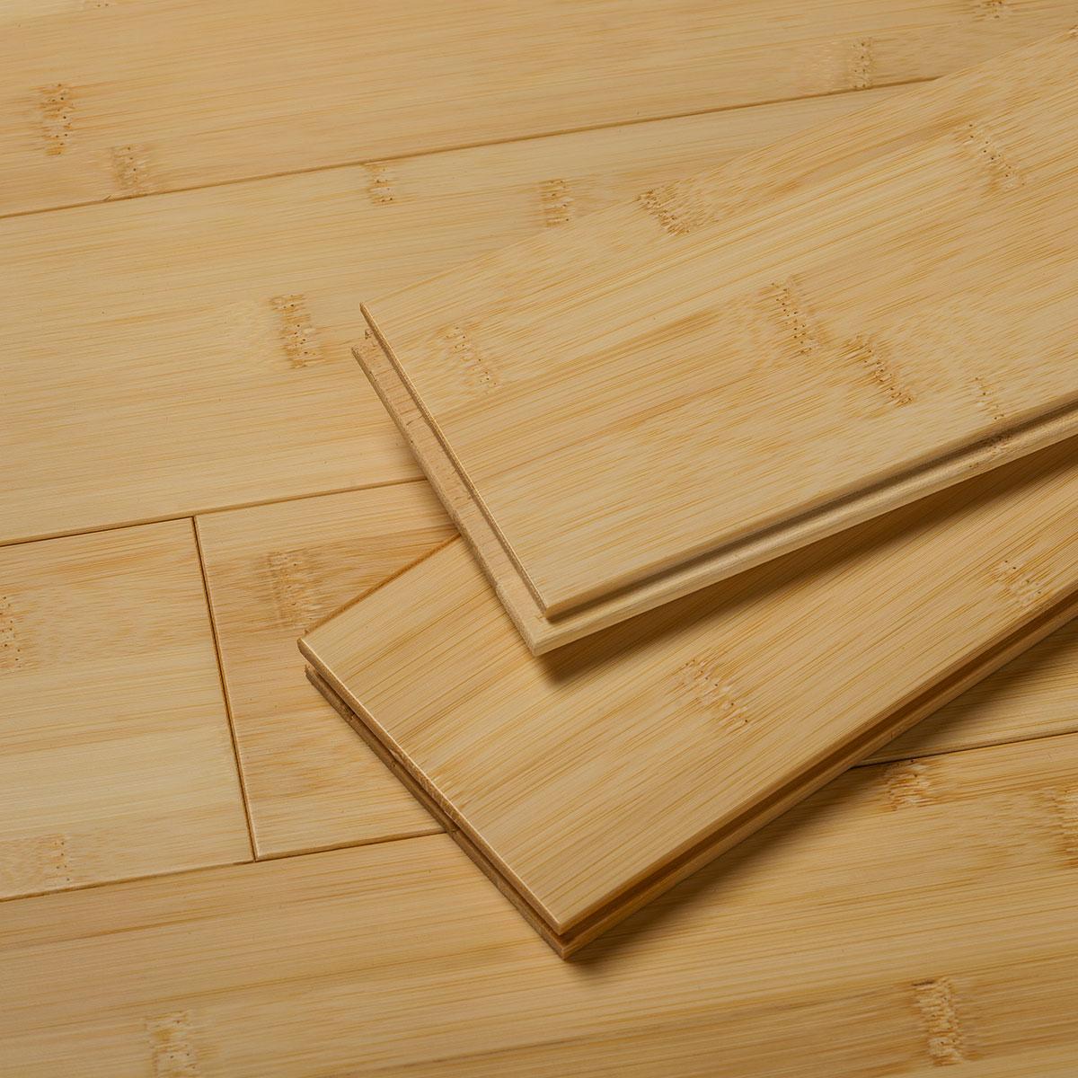 Natural Flat Grain Bamboo Flooring