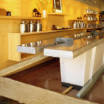 plywood edge grain tea shop natomaDesign